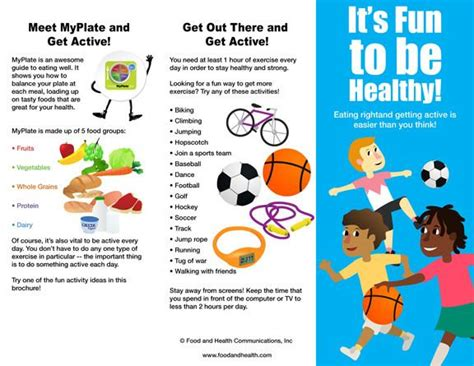 Jumbo Wall Stickers kids myplate and physical activity brochure packet of 25