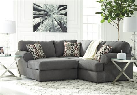 laf corner chaise sectional jayceon steel 2 pc laf corner chaise sectional 64902