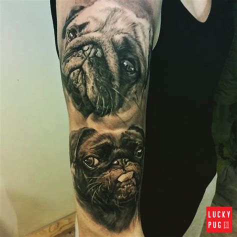 pug tattoos black and grey arm pug tattoos black realistic