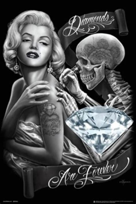 marilyn monroe with tattoos poster diamonds are forever poster dga 24x36 marilyn