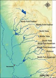 map of rivers in california frogs breed insights on river management
