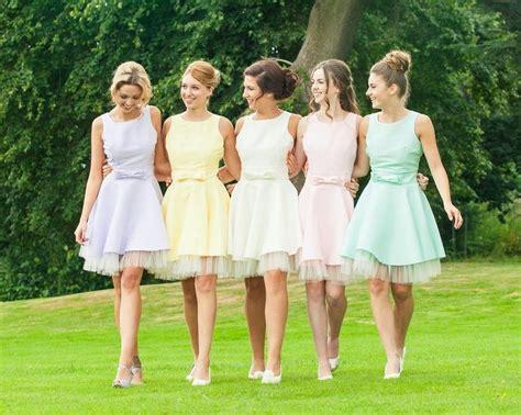 pastel color bridesmaid dresses best 25 casual bridesmaid dresses ideas on