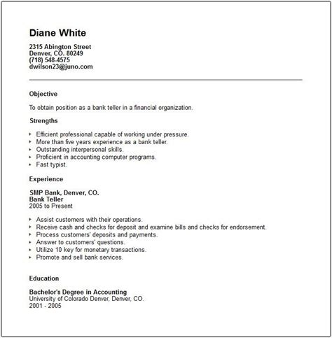 bank teller resume sles 63 best images about career resume banking on