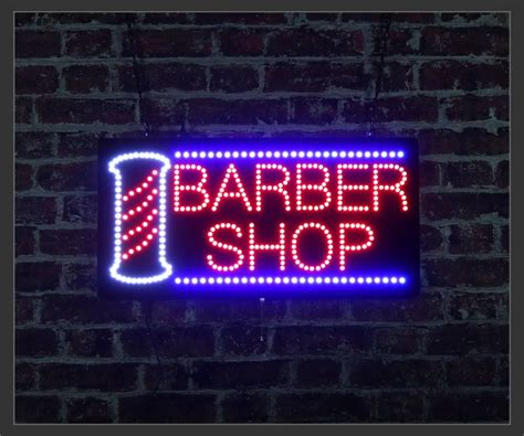 barber shop pole led sign
