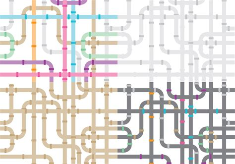 Ai Plumbing by Sewer Pipe Patterns Free Vector Stock