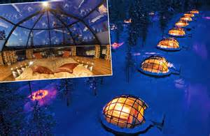 iceland northern lights igloo hotel northern lights to observe from glass igloo finland