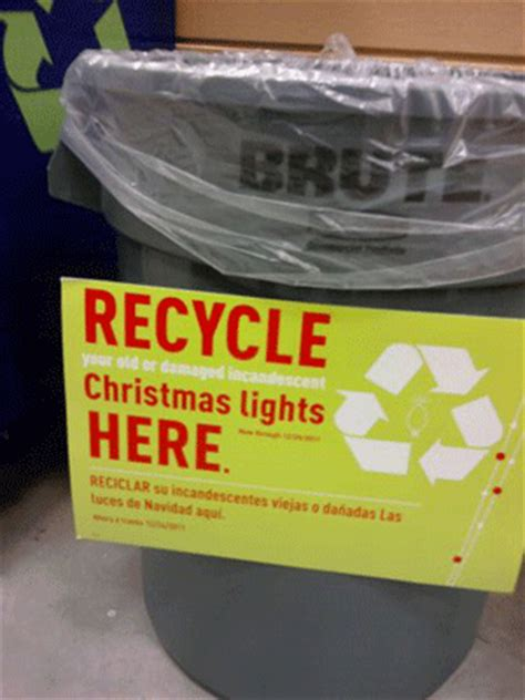 save green being green recycle your christmas lights