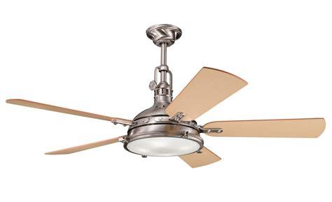kitchler ceiling fans kichler 300018bss hatteras bay ceiling fan