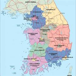 political map of korea south korea political map eps illustrator map our cartographers made south korea