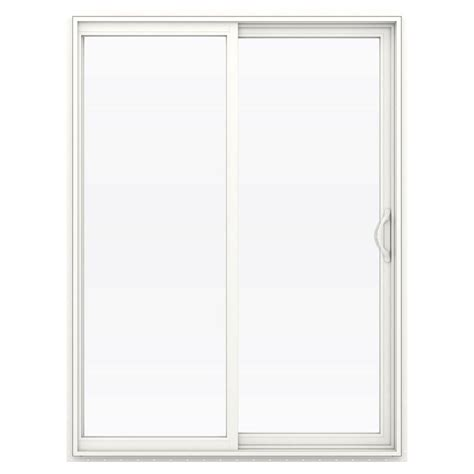 60 Sliding Glass Patio Door Jeld Wen 60 In X 80 In V 2500 Series Vinyl Sliding Low E Glass Patio Door Thdjw181500232 The