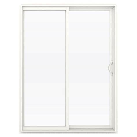 60 Sliding Patio Door Jeld Wen 60 In X 80 In V 2500 Series Vinyl Sliding Low E Glass Patio Door Thdjw181500232 The