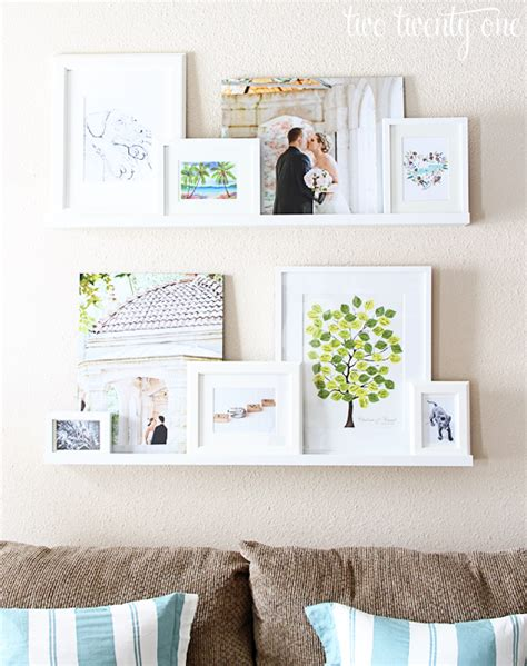 ikea ribba shelf photos framed