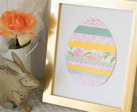 Paper Easter Egg Crafts - scrapbook paper easter egg easy craft easy crafts 101