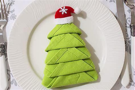 Tovagliolo Albero Di Natale by Piegare I Tovaglioli Albero Di Natale Decorazioni