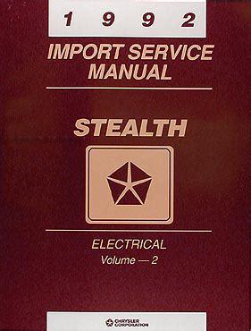 service repair manual free download 1992 dodge stealth auto manual 1992 dodge stealth repair shop manual original set es r t and turbo