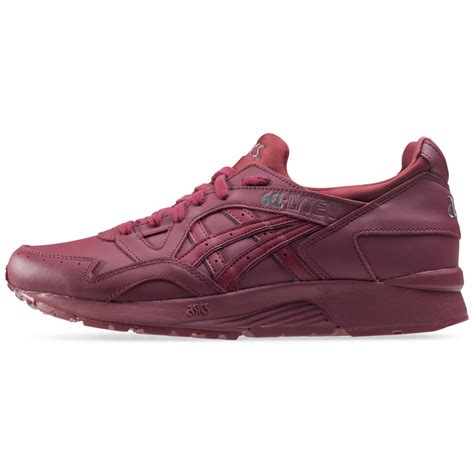 Asics Gel Lyte V Burgundy Sole Gum asics onitsuka tiger gel lyte v mens trainers in burgundy