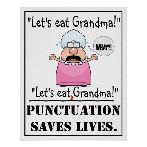 Eat In Kitchen Designs by Punctuation Saves Lives Poster Zazzle