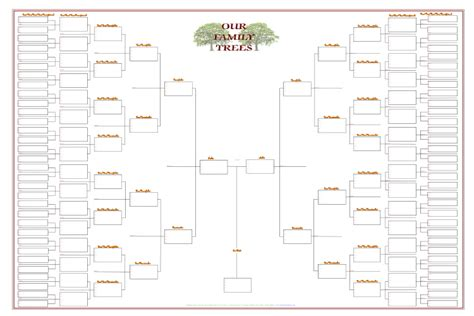free genealogy template free 6 generation family tree template