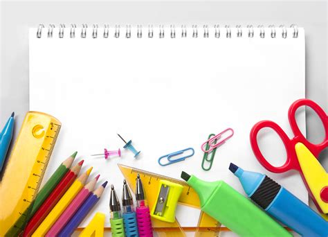 School Background Images 24 Images by School Supplies On White Background Milk Education