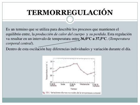 oscilacion temperatura corporal termorregulaci 243 n
