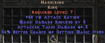 nagelring 15 24 mf unique rings diablo 2 lewt