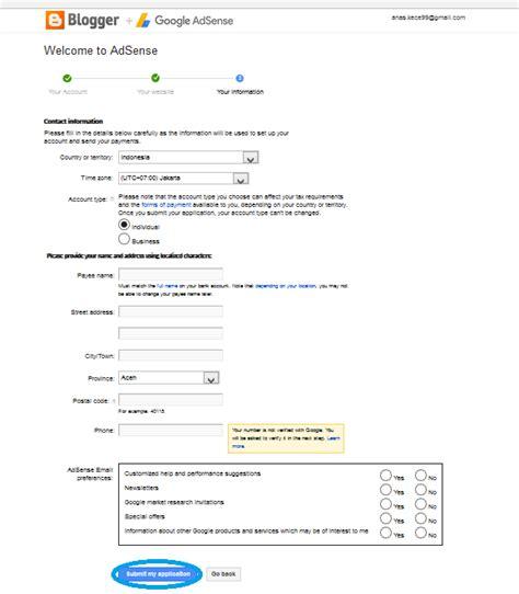 cara mudah mendaftar google adsense melalui youtube the vermont cara mendaftar google adsense dengan blog