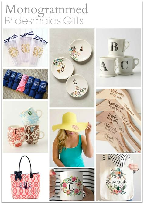 monogrammed gift ideas bridesmaid gift ideas they will link