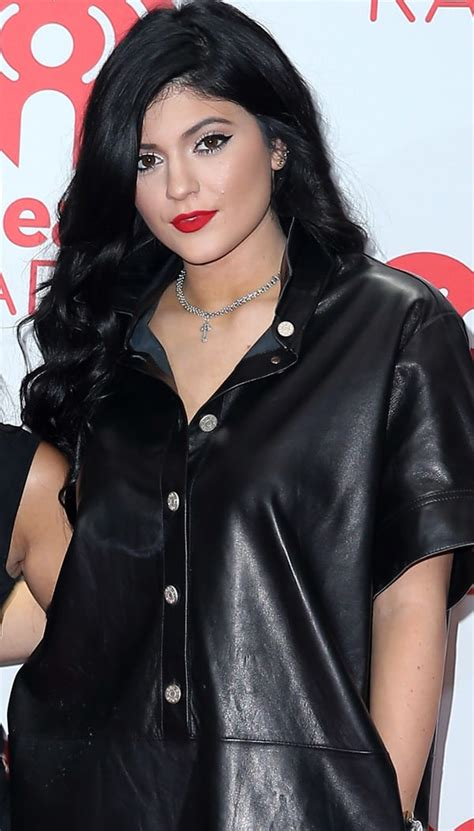 kylie jenner follows her older sisters footsteps by kylie jenner follows in her kardashian sisters leather