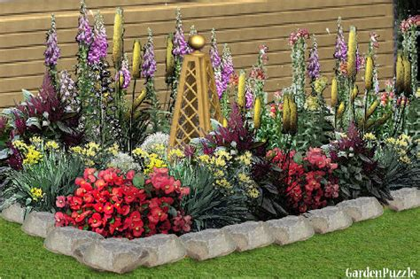 how to plan a flower garden layout flower bed gardenpuzzle garden planning tool