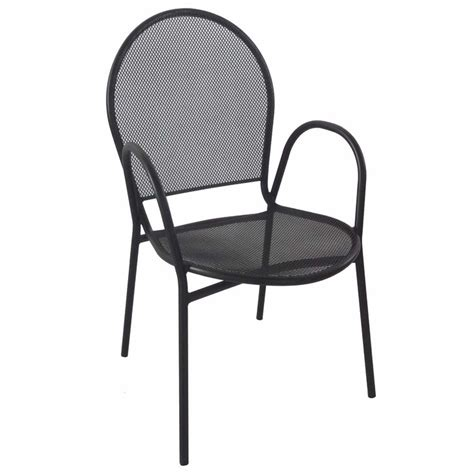 Patio Chairs With Arms Nero Metal Patio Chair With Arms