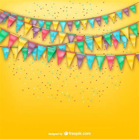 party background design download party background with bunting vector free download