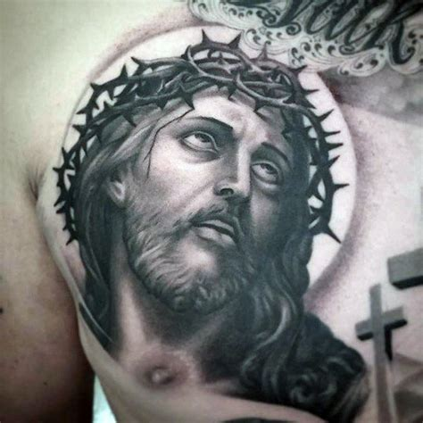 jesus chest tattoo 100 jesus tattoos for cool savior ink design ideas