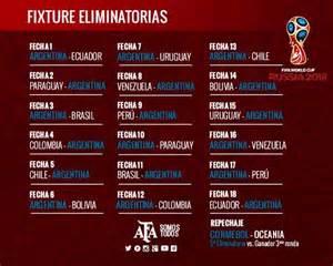 Eliminatorias Rusia 2018 Calendario Oficial Fixture De Las Eliminatorias Para Rusia 2018 La Argentina