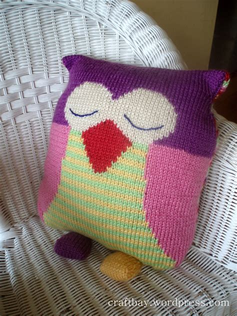 knitted owl cushion knitted owl cushion nursery ideas