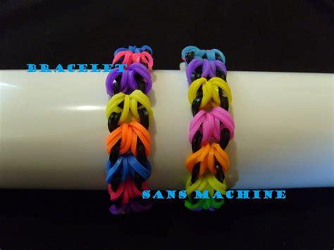 banding pattern en francais rainbow loom bands bracelet elastique sans machine tuto