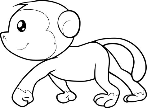 cute gorilla coloring page cute monkey coloring page