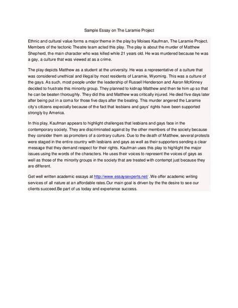 Laramie Project Essay sle essay on the laramie project