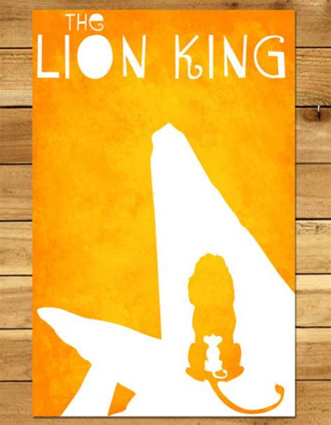 items similar to king minimalist poster disney minimalist disney posters you need right now