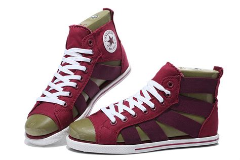 Convers Open converse open toe elastic band wine all
