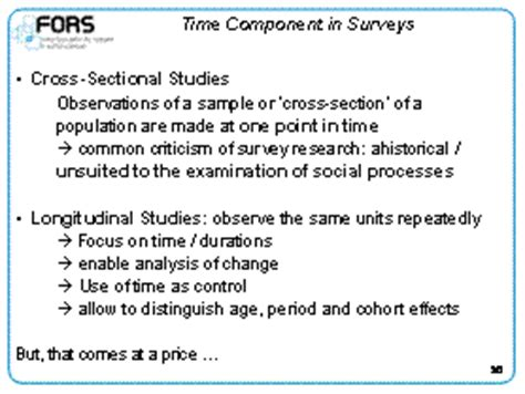 difference between longitudinal and cross sectional research challenges to social survey research methodology and