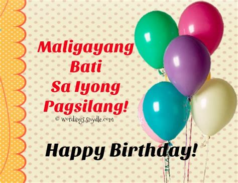 Wedding Congratulations In Tagalog by Tagalog Birthday Messages Card Wordings And Messages