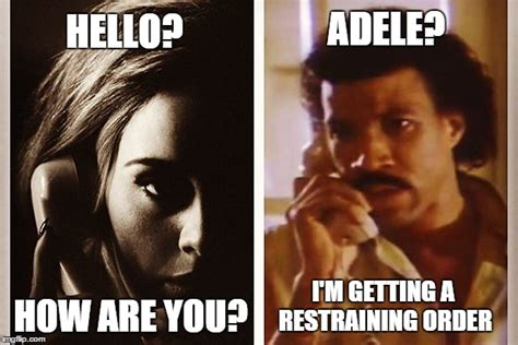 Adele Memes - adele memes hello from the other side image memes at