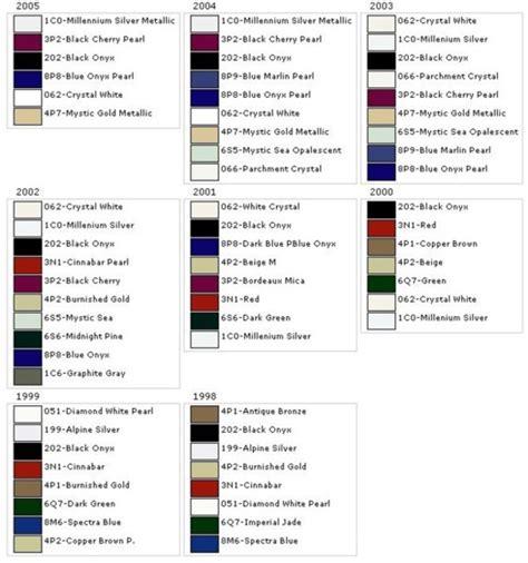 98 05 gs exterior color chart club lexus forums