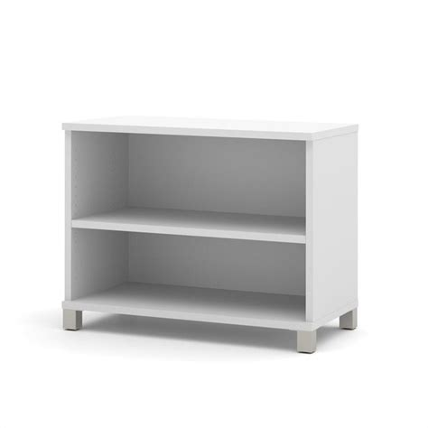 Two Shelf White Bookcase Bestar Pro Linea 2 Shelf Bookcase In White 120160 1117