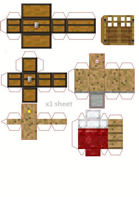 Castle Papercraft - papercraft castle for your minis minecraft