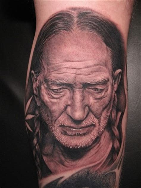willie nelson portrait tattoo body art bob tyrrell