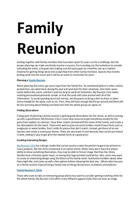 family reunion welcome letter template 28 images