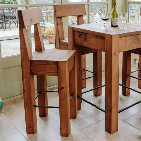 Bar Table And Stools by Lumber Plank Bar Table Stools Dining Package