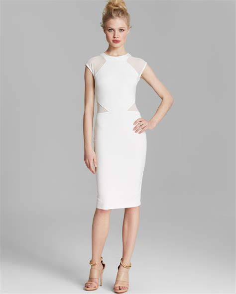 White Dress connection dress vivien paneled jersey in white
