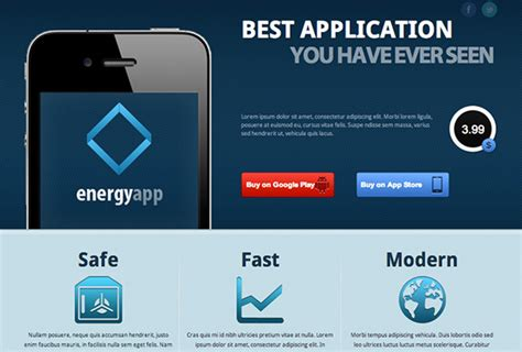 Landing Page Templates Perfect For Indie Games Iphone App Landing Page Template